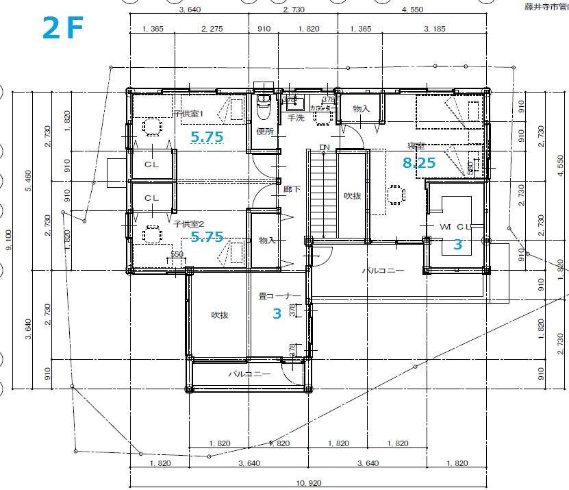 2F平面図