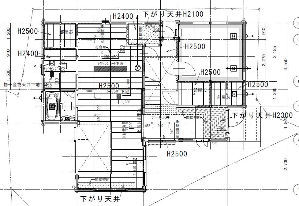天井伏図1F
